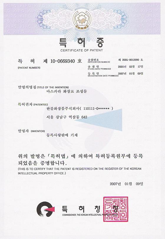 특허 제 10-0669340 호
